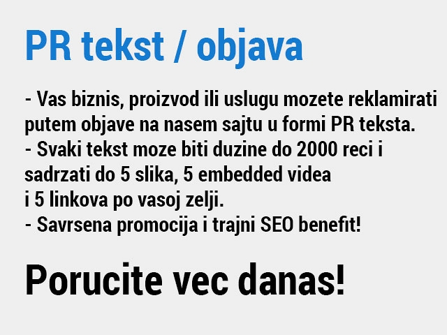 PR tekst / objava